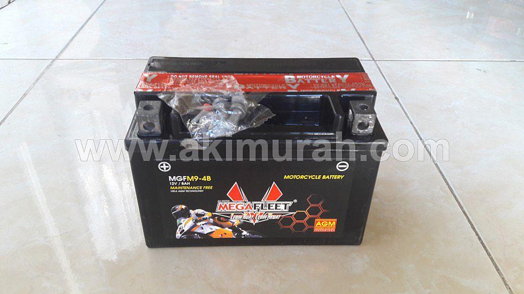 Aki Sepeda Motor Motorcycle Battery Aki Kering Maintenance Free Battery Mf Megafleet Megafleet Ytx9 Bs Mgfm9 4b Mf Akimurah Com Toko Aki Online Aki Mobil